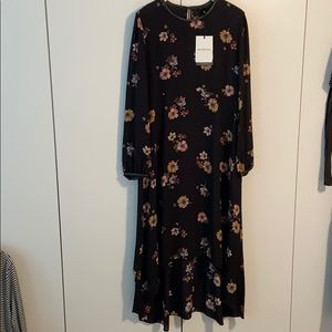 Who What Wear Floral Longsleeve Maxi Dress